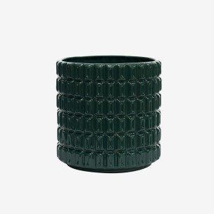 Kruka Fashion Palm Green, ISADECO - Fashion Palm Green Medium