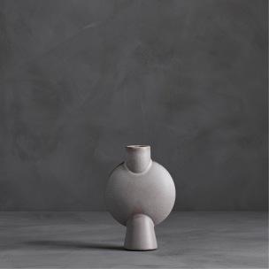 Vas Sphere Bubl Mini Grey Glazed, 101 CPH