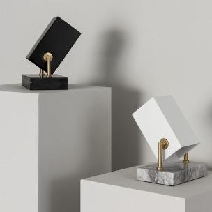 Bordslampa Box Svart & Vit, Watt & Veke