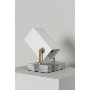 Bordslampa Box Svart & Vit, Watt & Veke - Bordslampa Box Vit