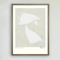 Poster White leaf no 3, Hein Studio