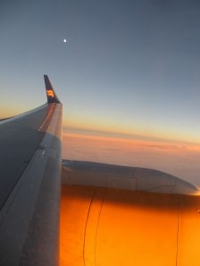 Vacker utsikt från flygplansfönstret