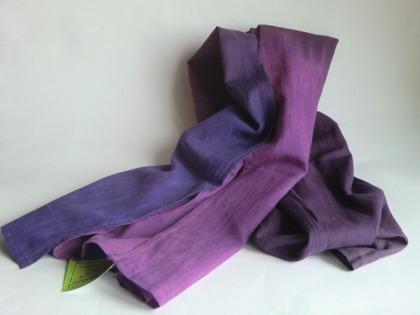 Lila lång sjal