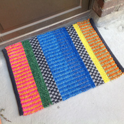 Dörrmatt i färgad sisal, 50x75 cm