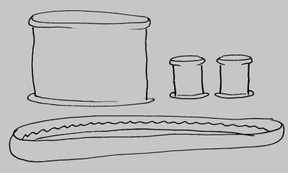 Muddar, halsduk, krage