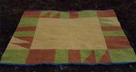 dubbelvävd matta ullgarn
