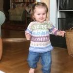 babytröja 1 år mönsterstickad