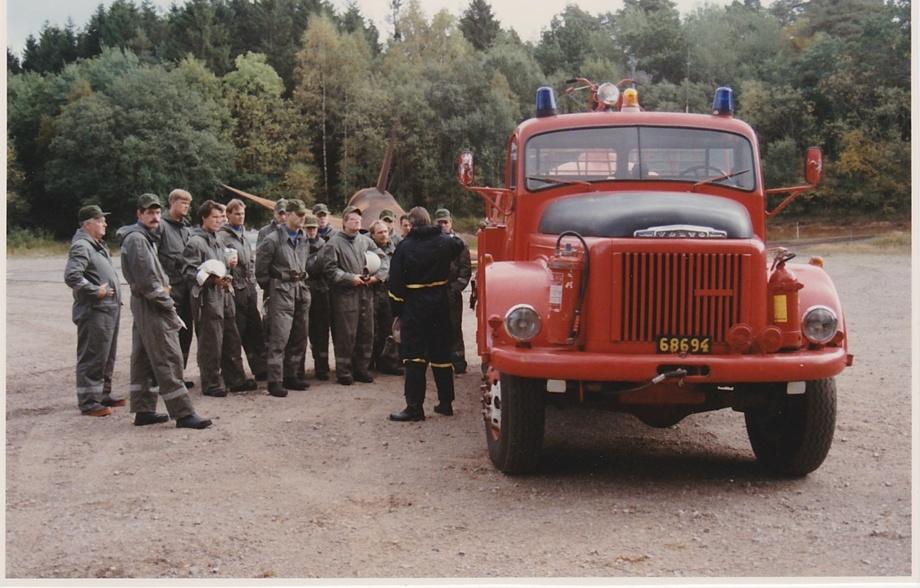 Förmodligen den sista RL kursen som fick utbildning Räddningsfordon 918