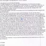 Brevet från Sigvard Sjödin
