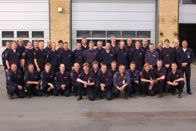 Gruppfoto civila brandmän 2005