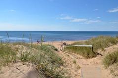 The last day trip follows the sandy beaches back to Båstad, day 4.