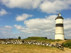 The light house in Glommen. Photo: Helen Andersson.