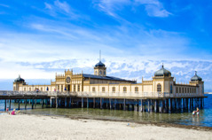 The bathhouse in Varberg, open all year.