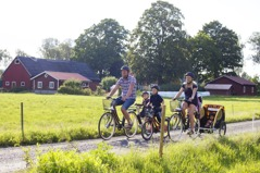 Avkopplande cykeltur för hela familjen. Foto: Region Skåne©Klara Leo