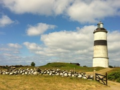 You pass the Glommen light house on your way between Falkenberg and Varberg. Photographer: Helen Andersson.