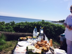 Maybe a picnic on your own by the sea? If not, there are a lot of restaurants opened for lunch along the route.
