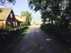 Röda hus och småvägar är en vanlig syn på din cykeltur. Foto:  Photo: Britten Toftarp