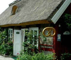 På turen finns många trevliga caféer att stanna till vid. Här  Systrarna Lundgren, dag 1. Foto: Region Skåne©Lena Birgersson.
