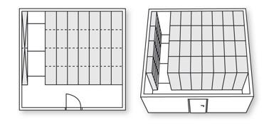 Arkiv med kompaktarkiv, ger maximal nytta av utrymmena.
