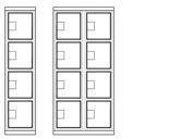 Finns som singel (4 dörrar) och dubbelsektioner (8 dörrar)