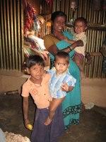 Fattig familj i Indien