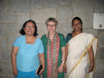 Rini Ralte, Elisabet och Evangeline Anderson Rajkumar