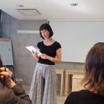 Helina-Diana Helmdorff höll i ett bibelstudium om Romarbrevet 14