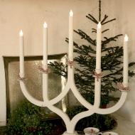 The Castle candle holder©, electric, design Westergaard & Kovács h. 70 w. 65 cm.