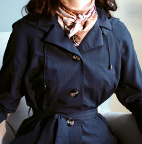 all weather coat Windy waisted, blue - S