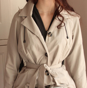 all weather coat Windy waisted, beige - S