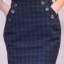 skirt Mary blue checks