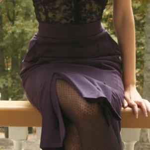 skirt Connie blueish plum