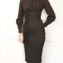 dress Mirja dark chocolate