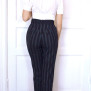 pants Jackie blue stripe