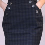 skirt Mary blue grey checkered
