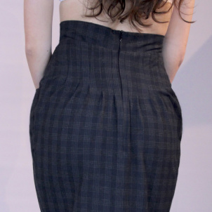 skirt Mary blue grey checkered