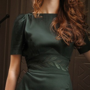 dress Lauren dark bottle green - 34