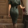 dress Lauren dark bottle green