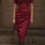 dress Lauren cherry red