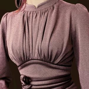 dress Mirja mauve