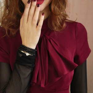 blouse Constance red
