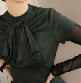 blouse Constance dark bottle green - 34