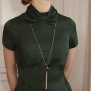 blouse Constance dark bottle green