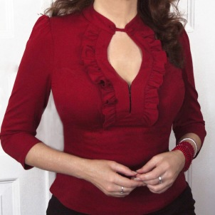 blouse Helene deep berry red