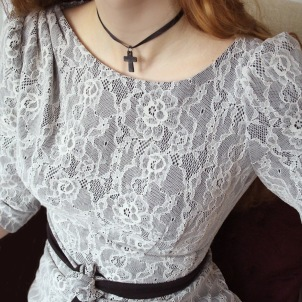 dress Lauren lace jersey