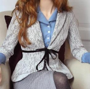 jacket Agnes lace-jersey - 34