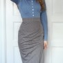 skirt Laura grey