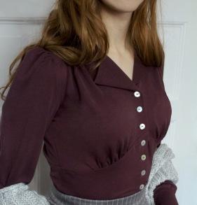blouse Elna mild plum - 34