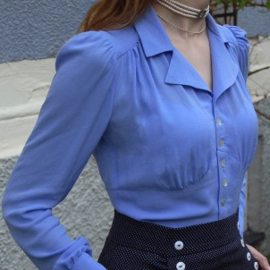 blouse Elna violet blue