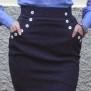 skirt Mary navy dots - 44
